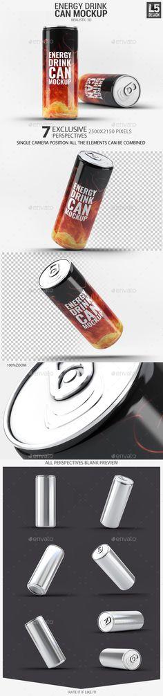Energy Drink Can Mock-Up #design Download: http://graphicriver.net/item/energy-drink-can-mockup/11315680?ref=ksioks