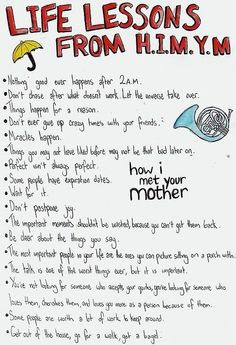 How i met your mother, life lessons http://www.janetcampbell.ca/