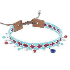 Turquoise Mix Adjustable Charm Bracelet