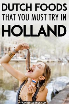 Planning what to eat in Amsterdam, the Netherlands? Your Dutch food bucket list with twenty five Dutch foods that you'll want to eat in Holland written by a Dutch resident. Includes Dutch desserts, Dutch meats, and where to eat Dutch food in Amsterdam, the Netherlands!