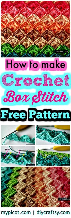 Crochet Box Stitch – Step by Step Instructions – Free Crochet Pattern