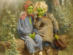 THE GREEN CHILDREN OF WOOLPIT Once upon a time in the English village of Woolpit, two strange children appeared with skin as green as leaves.