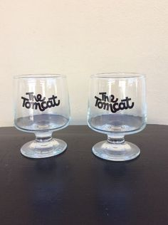 Vintage The Tomcat Set Of Two Glasses Atomic Cocktails