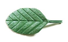 single origami leaf
