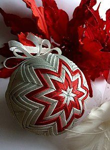 Dekorácie - Vianočná guľa 10 cm - 6231364_