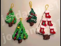 ▶ How To Make A Rainbow Loom Decorated Holiday Christmas Tree Charm - Part 1 - YouTube