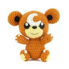 100% FREE PATTERN, Teddiursa,  Available to download in PDF format once added to cart.