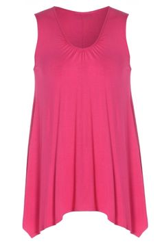 Just Curvy | Cerise Pink Sleeveless Ruched Neckline Plain Long Plus Size Vest T Shirt Top http://www.justcurvy.com/shop/whats-new/cerise-pink-sleeveless-ruched-neckline-plain-long-vest-t-shirt-top