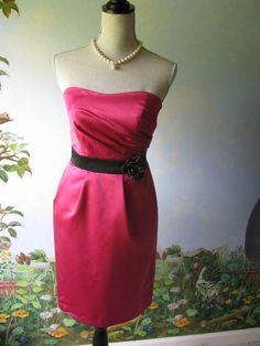 David's Bridal Dress Women Pink Strapless Cocktail Dress Size 2 New #DavidsBridal #Cocktail