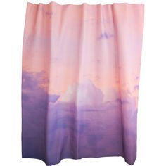 Pink Clouds Shower Curtain design by elise flashman ($93) ❤ liked on Polyvore featuring home, bed & bath, bath, shower curtains and pink shower curtains