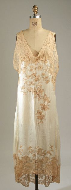 1930s Silk French Nightgown | Vintage