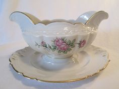 Vintage Royal Jackson Fine China Gravy Boat by LBFCollections