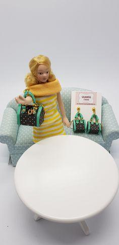 Jewelry Earring •Miniature Handbag Earring • Fashion jewelry • Jewelers • miniatures • Dollhouse Miniature handmade designer Bag Fashion Earrings, Fashion Jewelry, Dollhouse Miniatures, Etsy, Handmade, Bags, Design, Home Decor, Dollhouses