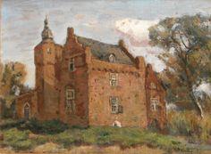 Afbeelding van kasteel Moermond in Renesse (olieverf 35 - 45 cm).