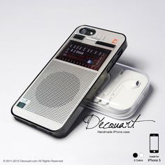 Vintage radio iPhone 5 case iPhone 5 cover case for by Decouart, $18.99