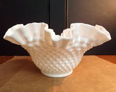 Fine Fenton Milk Glass Hobnail Basket To Rank First Among Similar Products Fenton