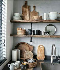 Prachtige planken voor in een moderne en robuuste keuken!