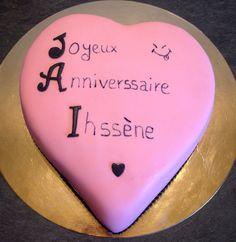 #birthday #cake #coeur #rose