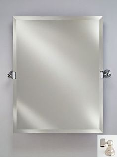 Afina Corporation RM-624-PN 24X30 Rectangular Frameless Mirror with Tilt Brackets - Polished Nickel by Afina Corporation. $347.00. It can be hung vetical or horizontal.. Dimension: 24'' W x 30'' H.. Great Gift Idea.. Finish: Polished Nickel.. 1 Bevel Wall Mirror.. Rectangular Frameless. Finish: Polished Nickel. Dimension: 24'' W x 30'' H. 1 Bevel Wall Mirror. It can be hung vetical or horizontal.