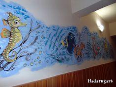 Artizani romani | Mestesugari romani | Pictura pe perete intr-un centru maternal din Campia Turzii Night, Email, Artwork, Handmade, Romania, Painting, Work Of Art, Hand Made, Auguste Rodin Artwork