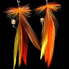 Feather Fishing Lure Earrings, $15.00, Loyd's Lures