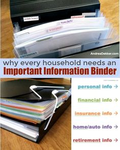 Why Every Household Needs An Important Information Binder - Andrea Dekker