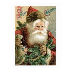 Santa A Merry Christmas Postcard