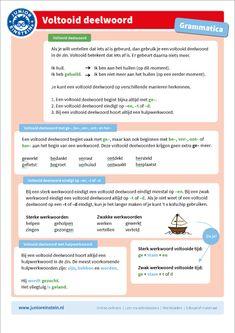 Werkwoorden Spelling For Kids, School Info, Teacher Organization, School Lessons, Social Work, Grammar, Einstein, Psychology, Language