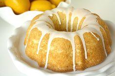 Lemon Bundt Cake. I just found a vintage bundt cake pan and I'm looking for something new to bake!