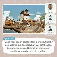 Animal Crossing Funny, Animal Crossing Wild World, Animal Crossing Guide, Animal Crossing Qr Codes Clothes, Animal Crossing Villagers, Beach Hacks, Beach Tips, Beach Ideas, Ac New Leaf
