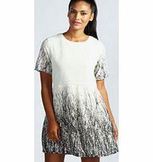 28af68bec5 boohoo Lisa Woodland Print Chiffon Smock Dress - white Dresses are sure to  add a feminine
