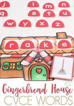 This gingerbread word work free printable for CVCE words will make a fabulous addition to your phonics program this winter. Holiday Activities For Kids, First Grade Activities, Word Work Activities, Reading Activities, Phonics Worksheets, Alphabet Activities, Phonics Programs, Cvce Words, First Grade Phonics