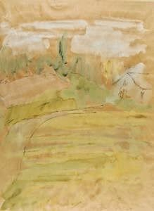 "Currier Collections Online - ""Yellow Fields"" by Jane Freilicher."