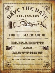save the date postcards. vintage rustic style by metricMod. Click to customize.