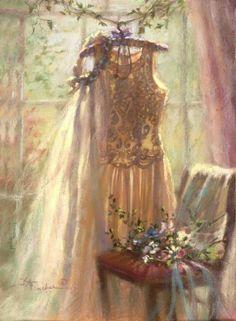 Illustrations, Illustration Art, Wedding Art, Wedding Dress, Wedding Beauty, Color Rosa, Beautiful Paintings, Belle Photo, Designing Women
