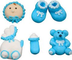 Edible Baby Shower  Royal Icing   Decorations   by ModestlySweet