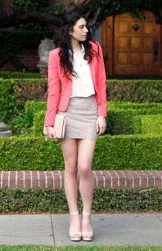 DailyLook: Lovely & Chic Pink Nude Look by Swoon, and Anne Michelle