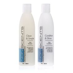 Nonscents Shampoo and Conditioner Set-Truly Unscented & Fragrance-Free…