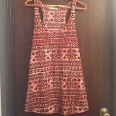 Maurice's tank Orange and brown print, loose and flowing fit Maurices Tops Tank Tops