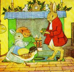 """Little Grey Rabbit's Christmas""  illustration by Margaret Tempest, 1981"
