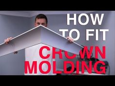How to cut crown molding the easy way! - YouTube