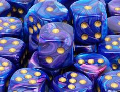 Chessex Dice - Lustrous - 12mm d6 with pips - Purple gold for �8.00 plus postage from thediceplace.com