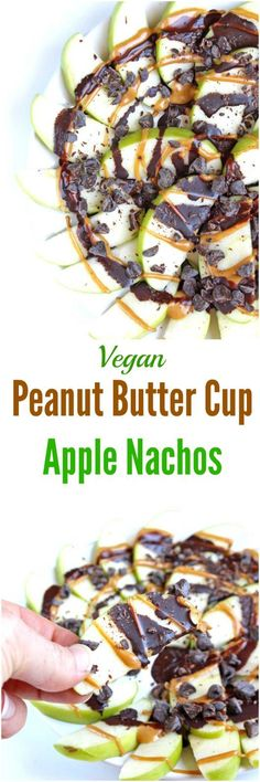 Peanut Butter Cup Apple Nachos [Vegan]