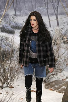 """""""We did a lot of research prior to putting that together, but our focus was kind of Courtney Love-ish era. We did a lot of slip dresses with fishnets and motorcycle boots and Doc Martens with flannel and chokers. It was very grunge. It was a little mix of grunge with a tiny bit of femininity in it."""""""