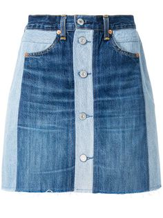 Skinny Jeans With Flats Re/Done x Levi's button front denim skirt. Skinny Jeans With Flats Re/Done x Levi's button front denim skirt Ropa Upcycling, Demin Skirt, Waist Skirt, Button Front Denim Skirt, Mode Jeans, Denim Ideas, Recycle Jeans, Denim And Lace, Blue Denim