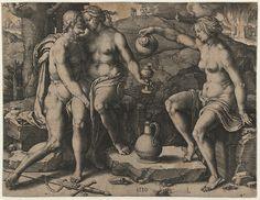 Lucas van Leyden - Lot and His Daughters. 1530