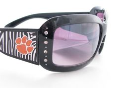 Clemson Tigers Zebra Womens Sunglasses