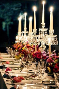 Beautiful table set for a fancy evening. Cheers