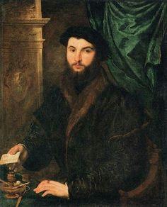 Paris Bordone(1500–1571) Thomas StachelDate1540Mediumoil on canvasDimensionsHeight: 107 cm (42.1 in). Width: 86 cm (33.9 in).Current location  (Inventory)Louvre Museum