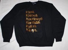BLTEE KIM KHLOE KOURTNEY KENDALL KYLIE KANYE SWEATSHIRT BRIAN LICHTENBERG SMALL #Brianlichtenberg #SweatshirtCrew